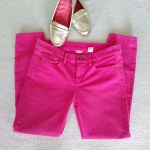 J.Crew Bubble Gum Pink Skinny Curdoroy Jeans